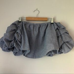 LF Ruffled Sleeve Crop Top SZ M NWT